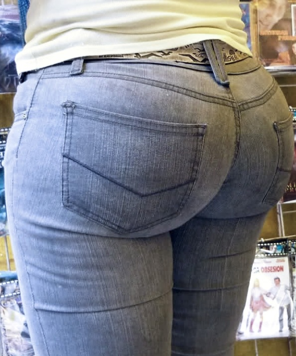 Phat ass in tight jeans