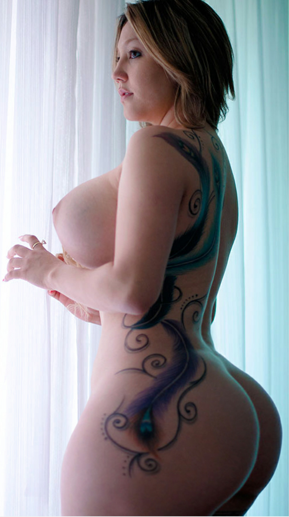Nude Sexy Women With Tattoos On Big Boobs